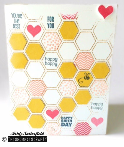 Stampin/' Up Honeycomb Hello Stamp Set
